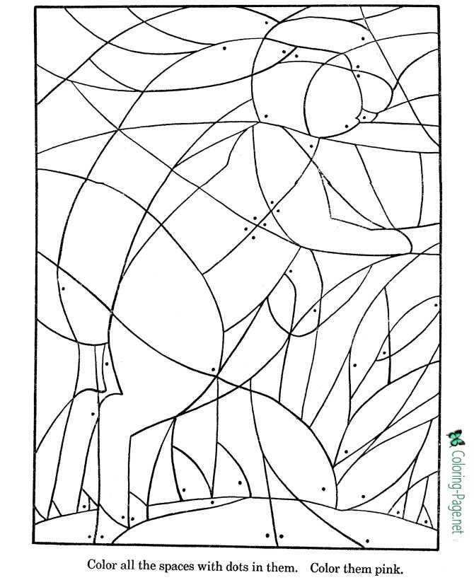 jack rabbit picture puzzle worksheets