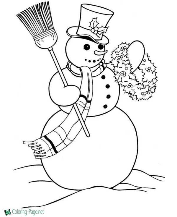 christmas coloring book pages # 40