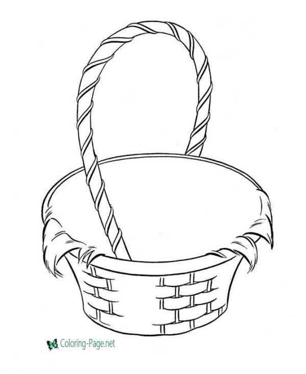 basket coloring page # 3