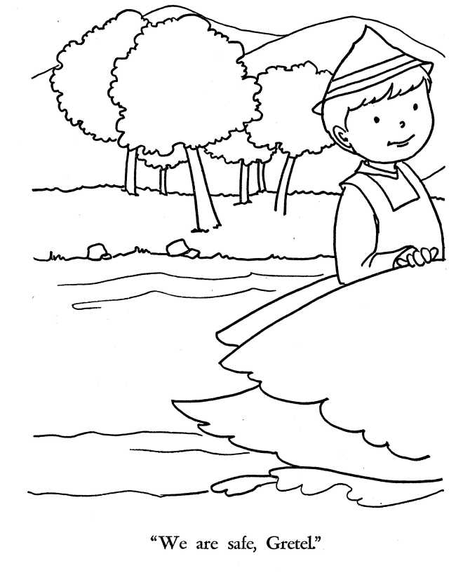 fairy tales  hansel and gretel coloring pages