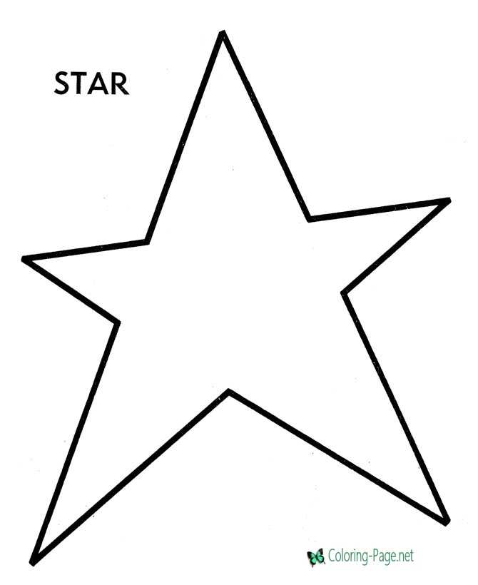 Preschool Coloring Pages Star To Color