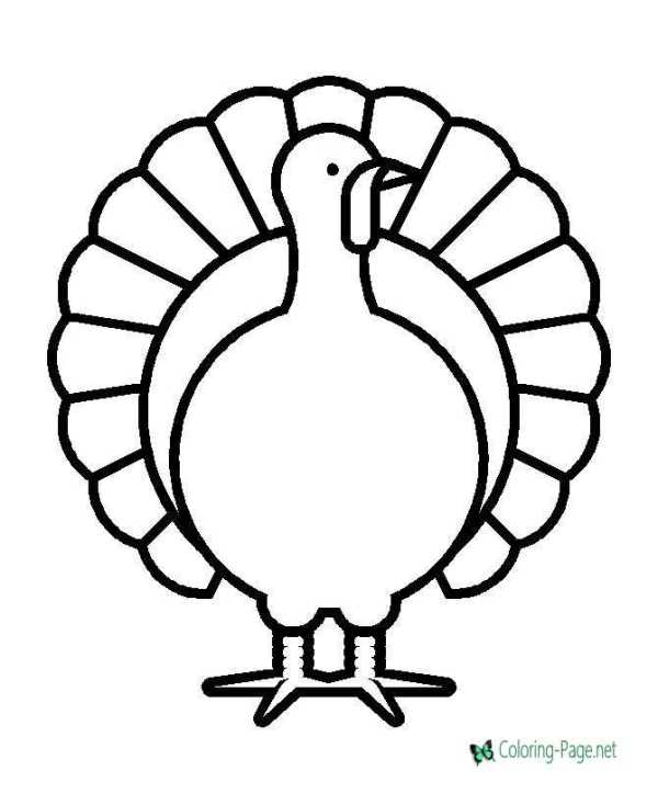 coloring pages turkey # 6