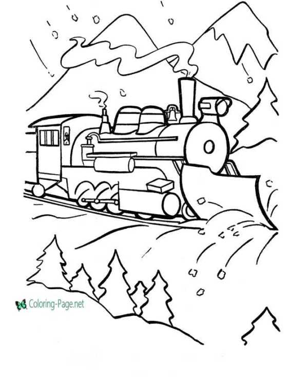 train coloring pages # 17