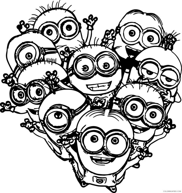 minions coloring pages free to print Coloring20free - Coloring20Free.com