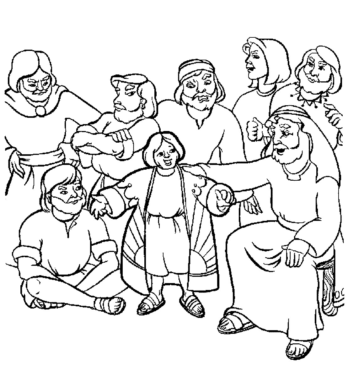 Twelve Sons Of Jacob Coloring Page Pages Sketch Coloring Page