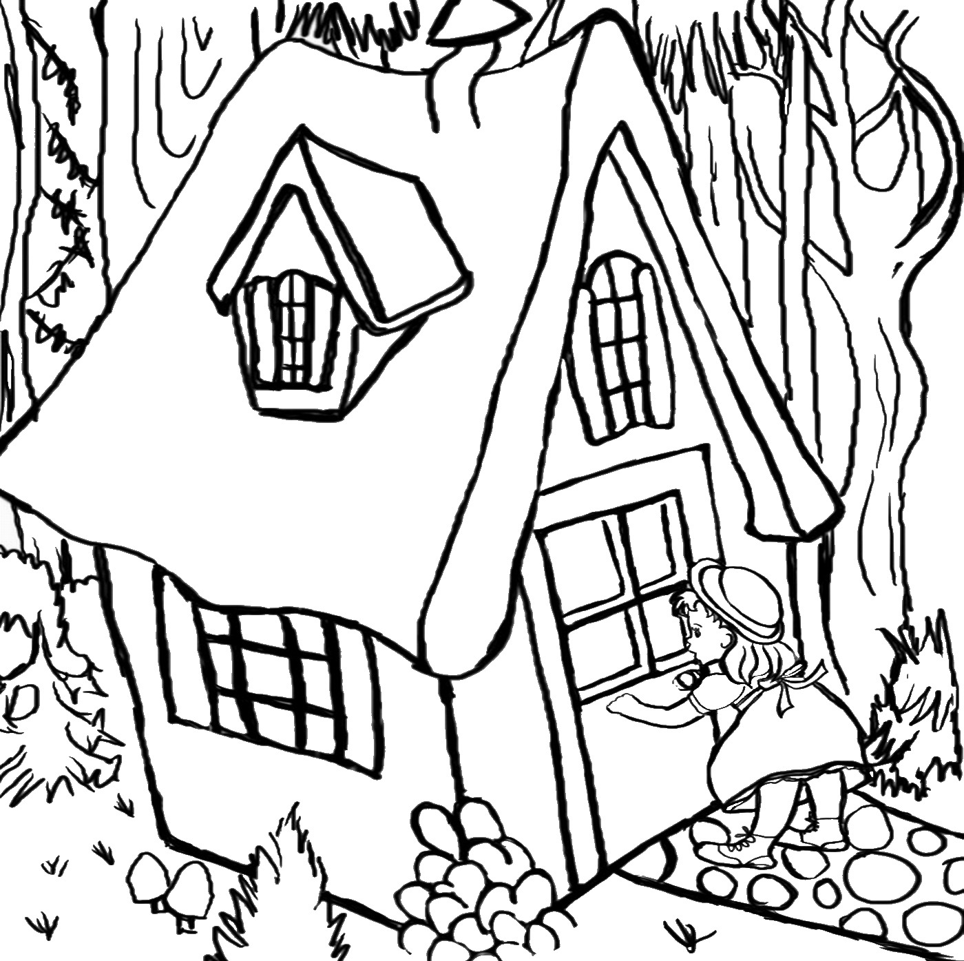 Goldilocks And The Three Bears Coloring Props Coloring Pages