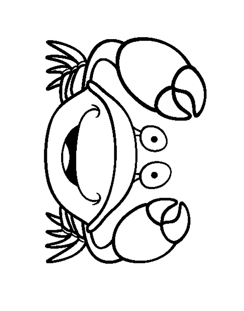 yeti crab coloring page coloring pages