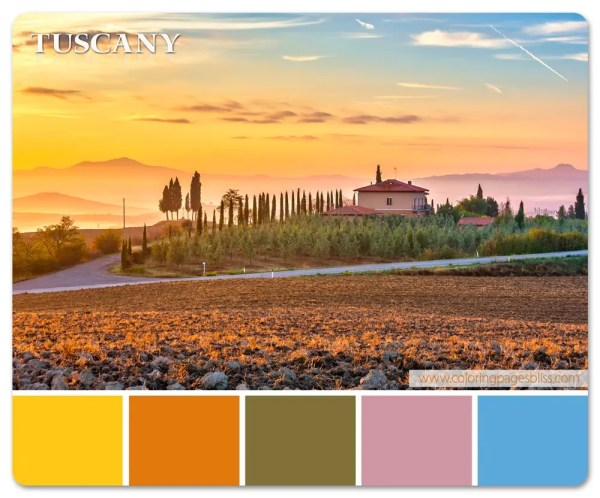 European Destinations Color Palette