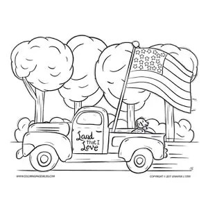Independence Day Coloring Page