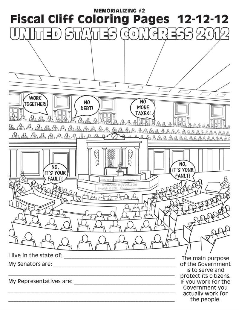Fiscal Cliff Coloring Book Pages Free Online Coloring