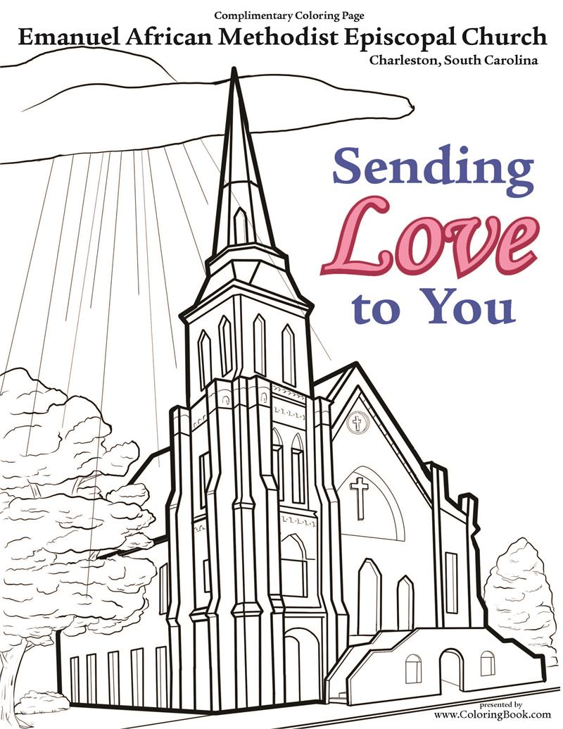 Ame Church Coloring Page Coloring Books