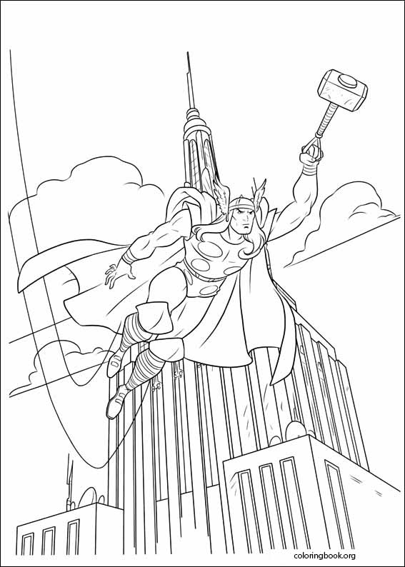 thor coloring page # 55