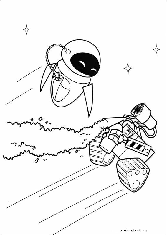 Wall E Coloring Page 021 Coloringbook Org