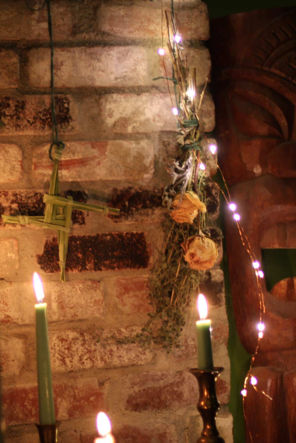 My Hearthside Imbolc Altar And Brigids Cross Coloring