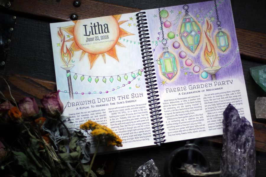 June Correspondences And Litha Spells Coloring Book Of