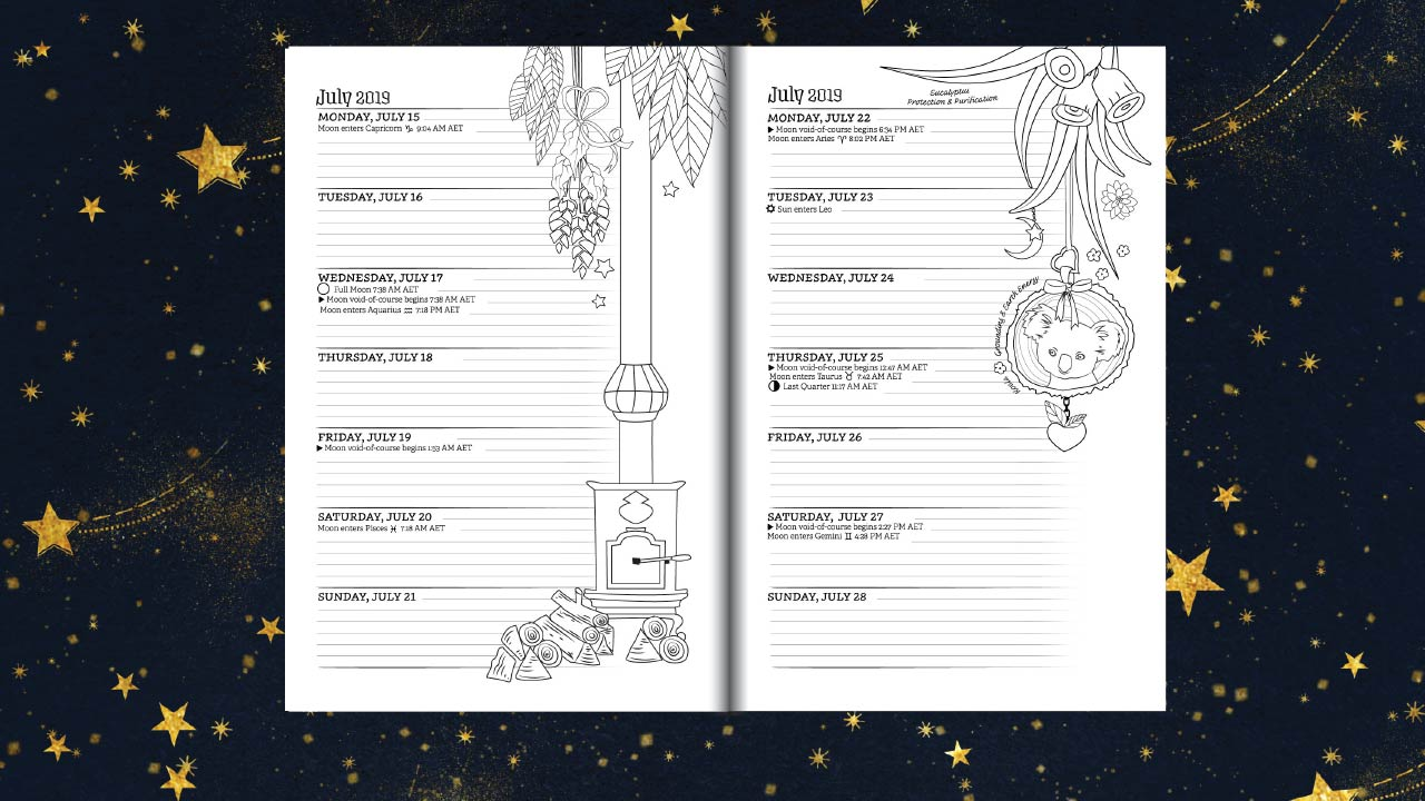 Southern Hemisphere Planner For A Magical 2019 Coloring