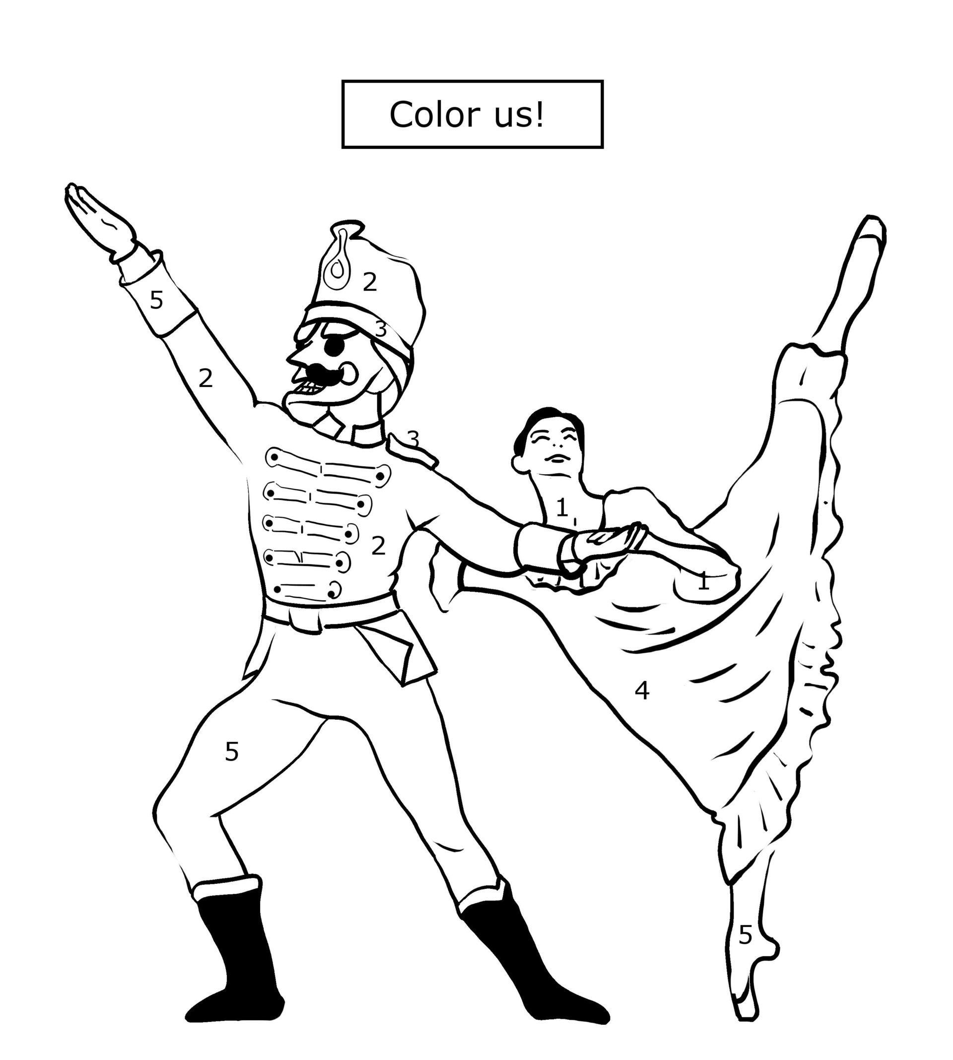 Nutcracker Coloring Sheets Pack Of 15 Coloring Books For Kidz