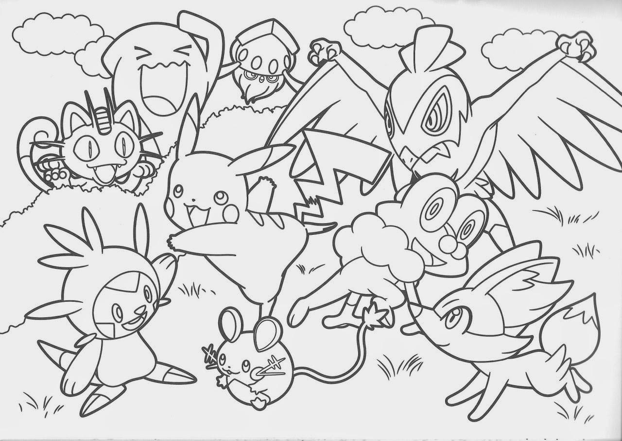 Desenhos Pokemon Para Colorir