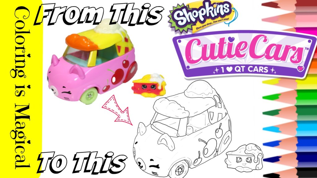 Color Shopkins Cutie Car Cherry-Pie Chaser Coloring Page
