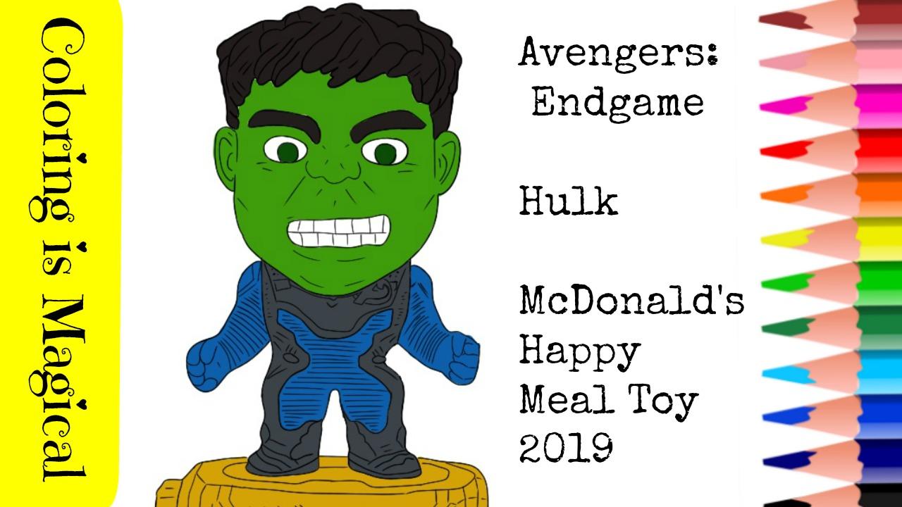 Avengers Endgame Happy Meal Toys 2019 Marvel Hulk Bruce Banner
