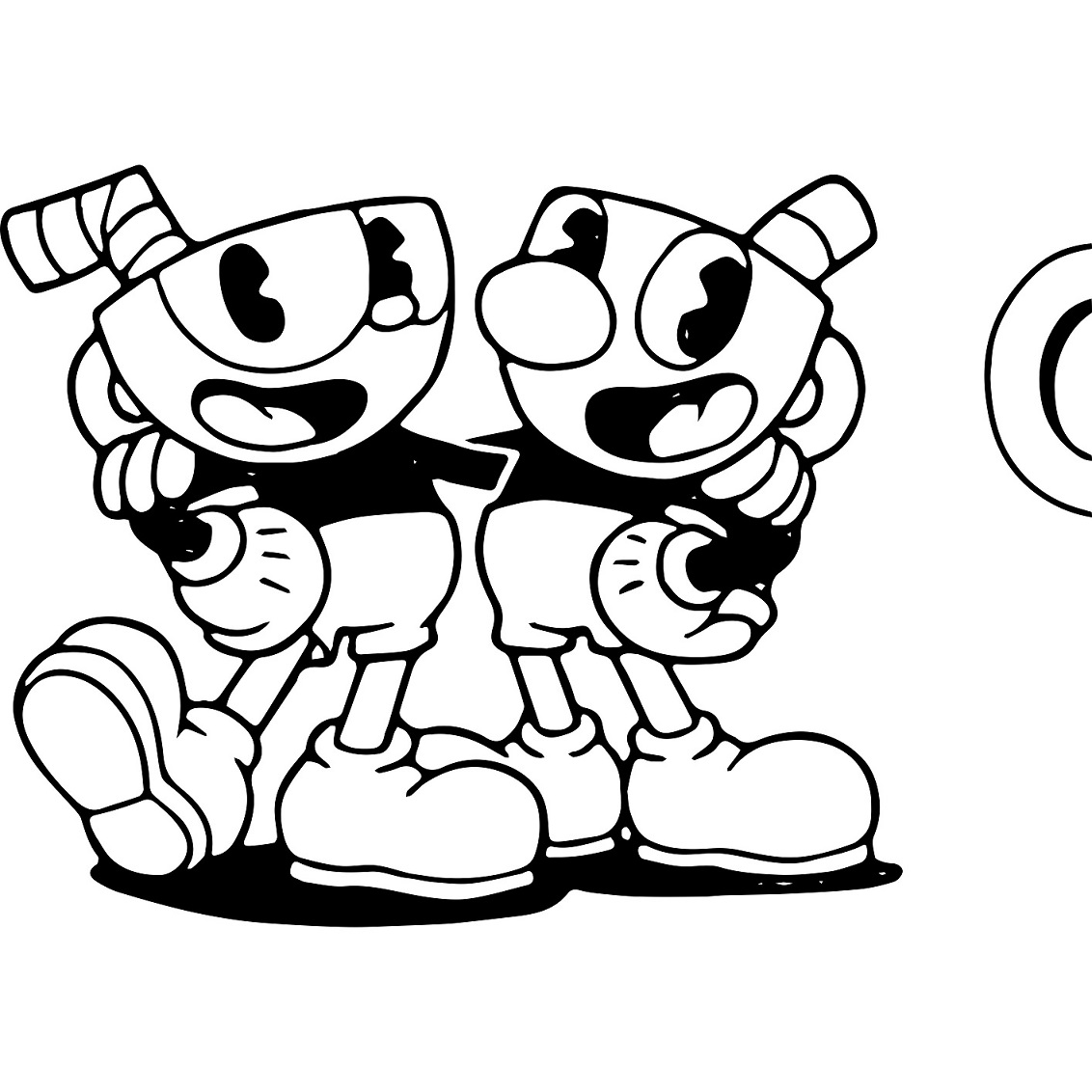 Cuphead Coloring Lesson