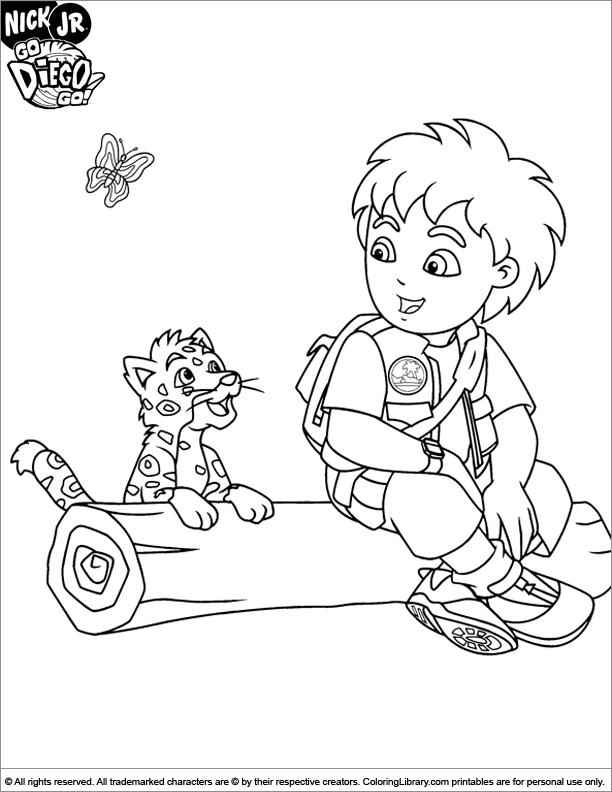 go diego go free coloring page  coloring library
