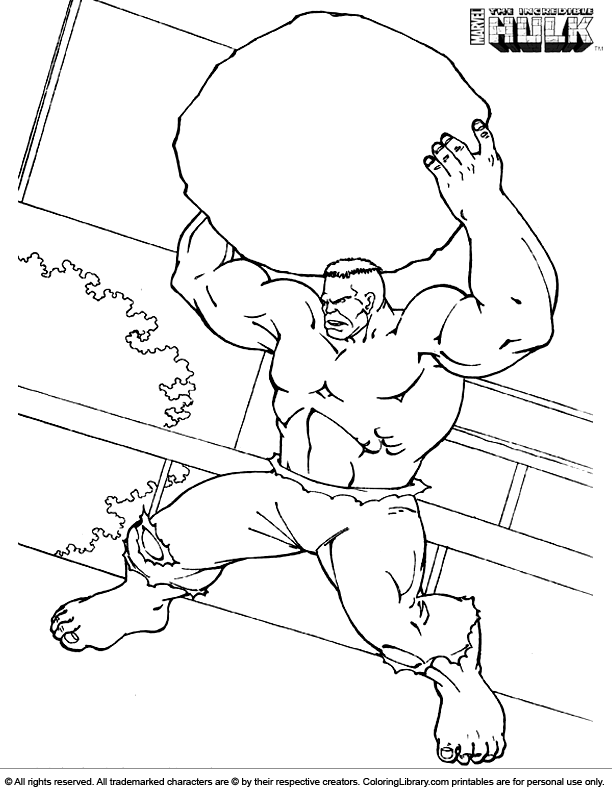 Hulk Coloring Page To Print Coloring Library