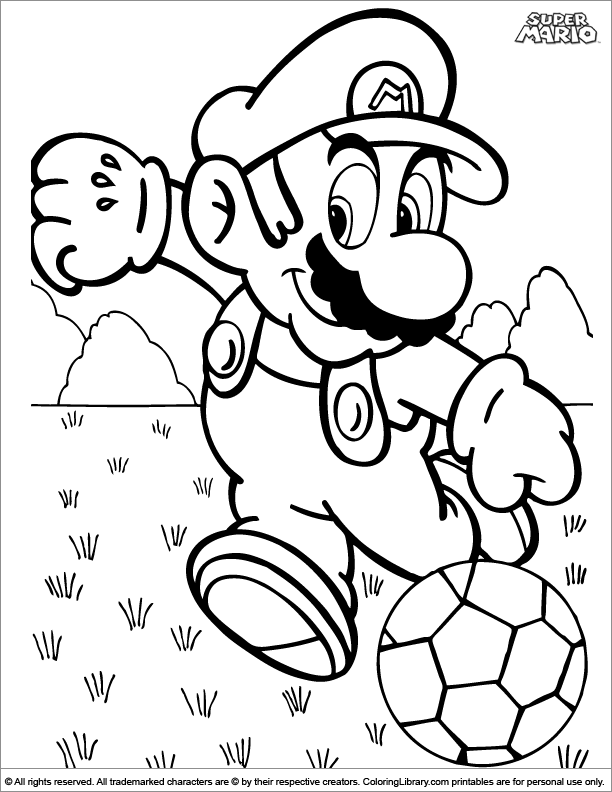 super mario brothers free coloring sheet  coloring library
