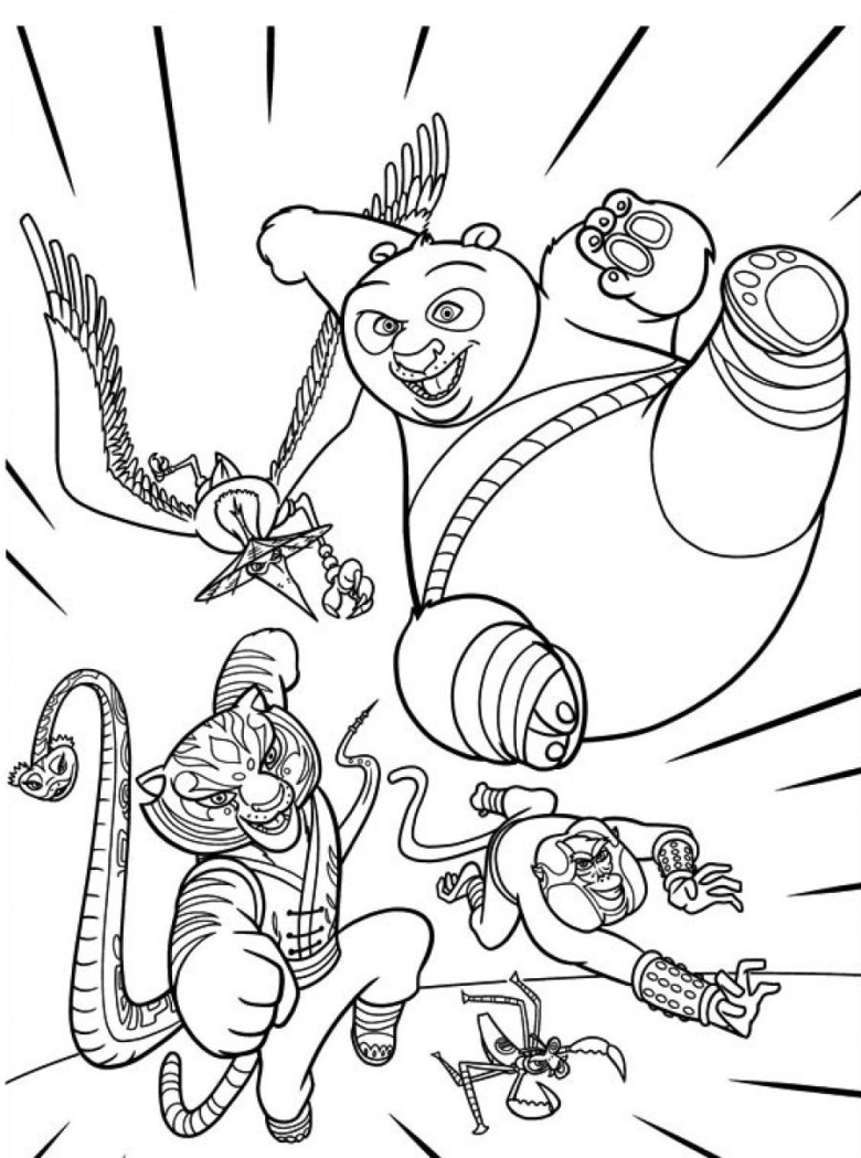 printable kung fu panda coloring pages | coloring me