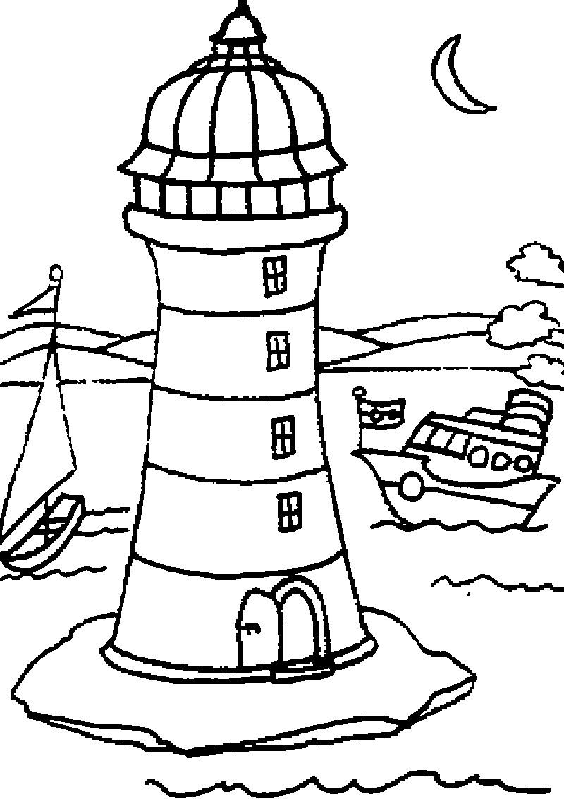 Printable Lighthouse Coloring Pages Coloringme Com