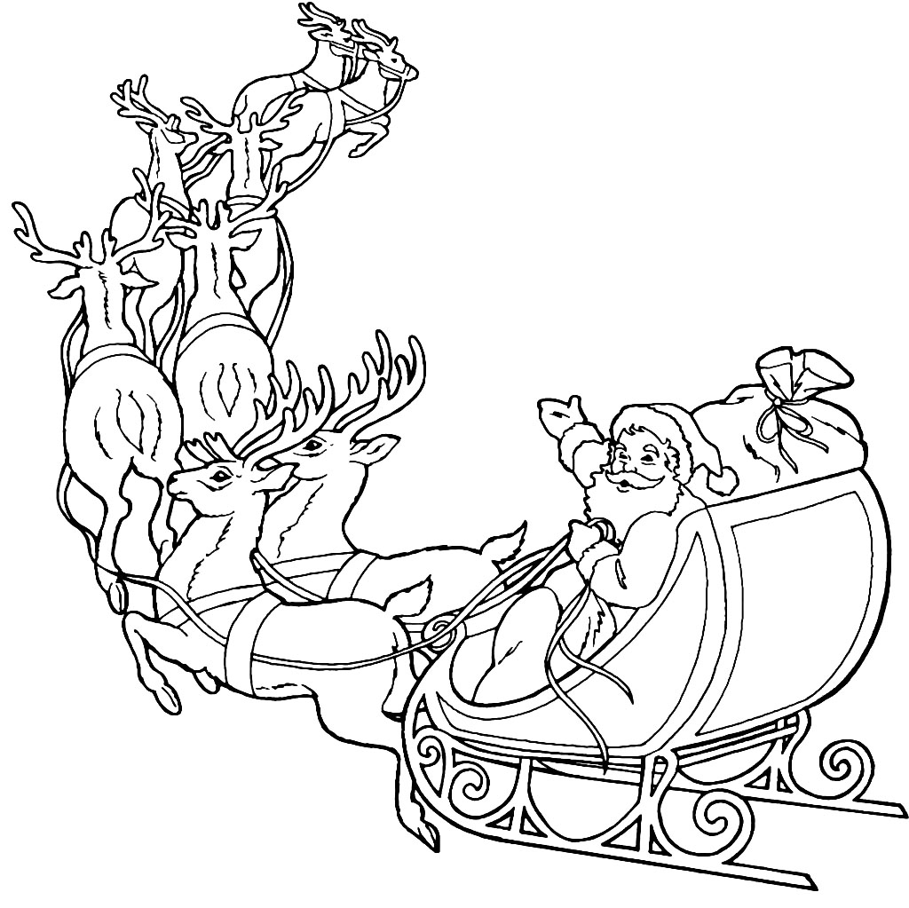 Santa Claus Printable Coloring Pages Coloring Pages