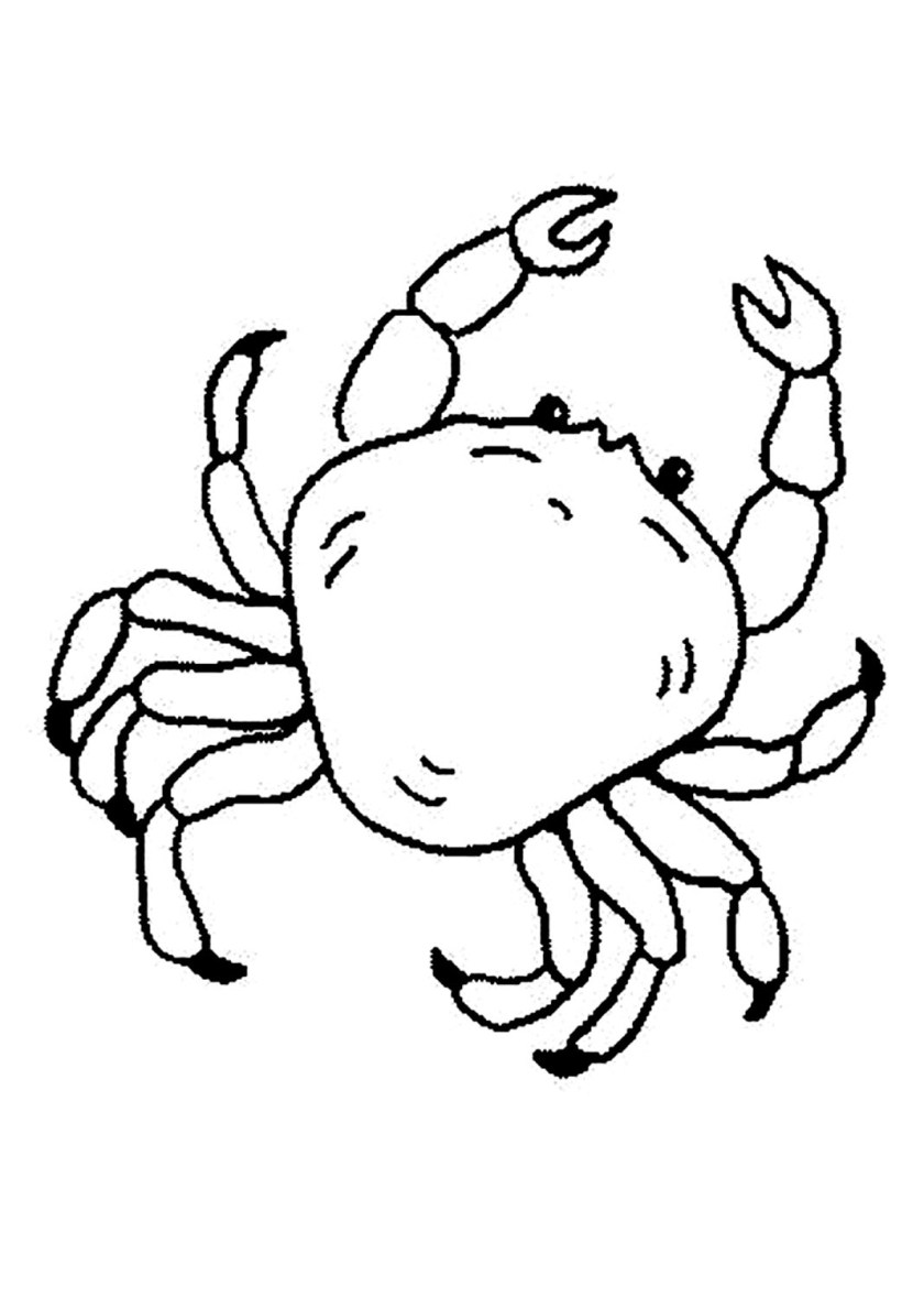 sebastian the crab pages coloring pages