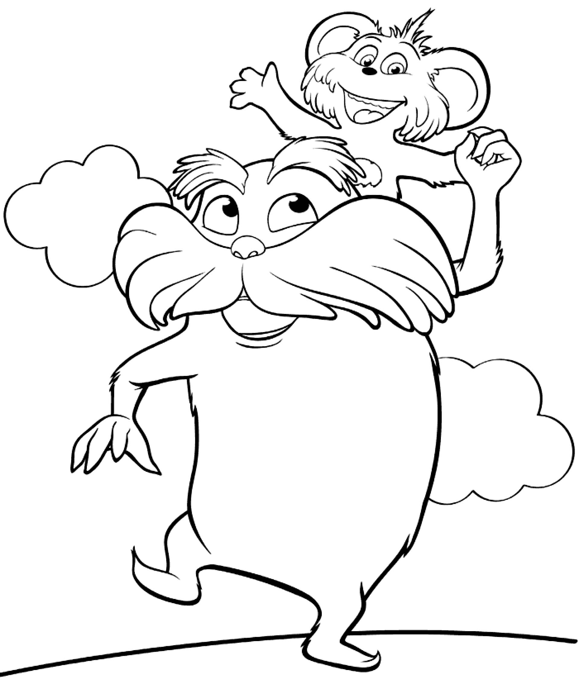 Dr Seuss Horton Hears A Who Sketch Coloring Page