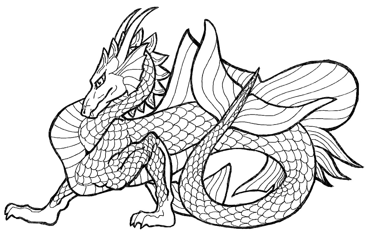 Printable Chinese Dragon Coloring Pages Coloringme Com