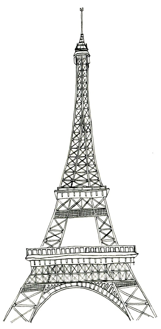 Coloring Pages Eiffel Tower Page Senderlyco