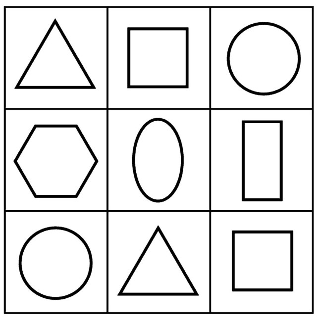 Coloring pages free geometric shapes