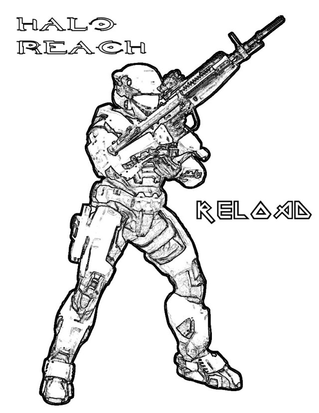 Printable Halo Coloring Pages  ColoringMe.com