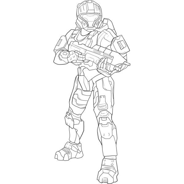 coloring pages halo # 14