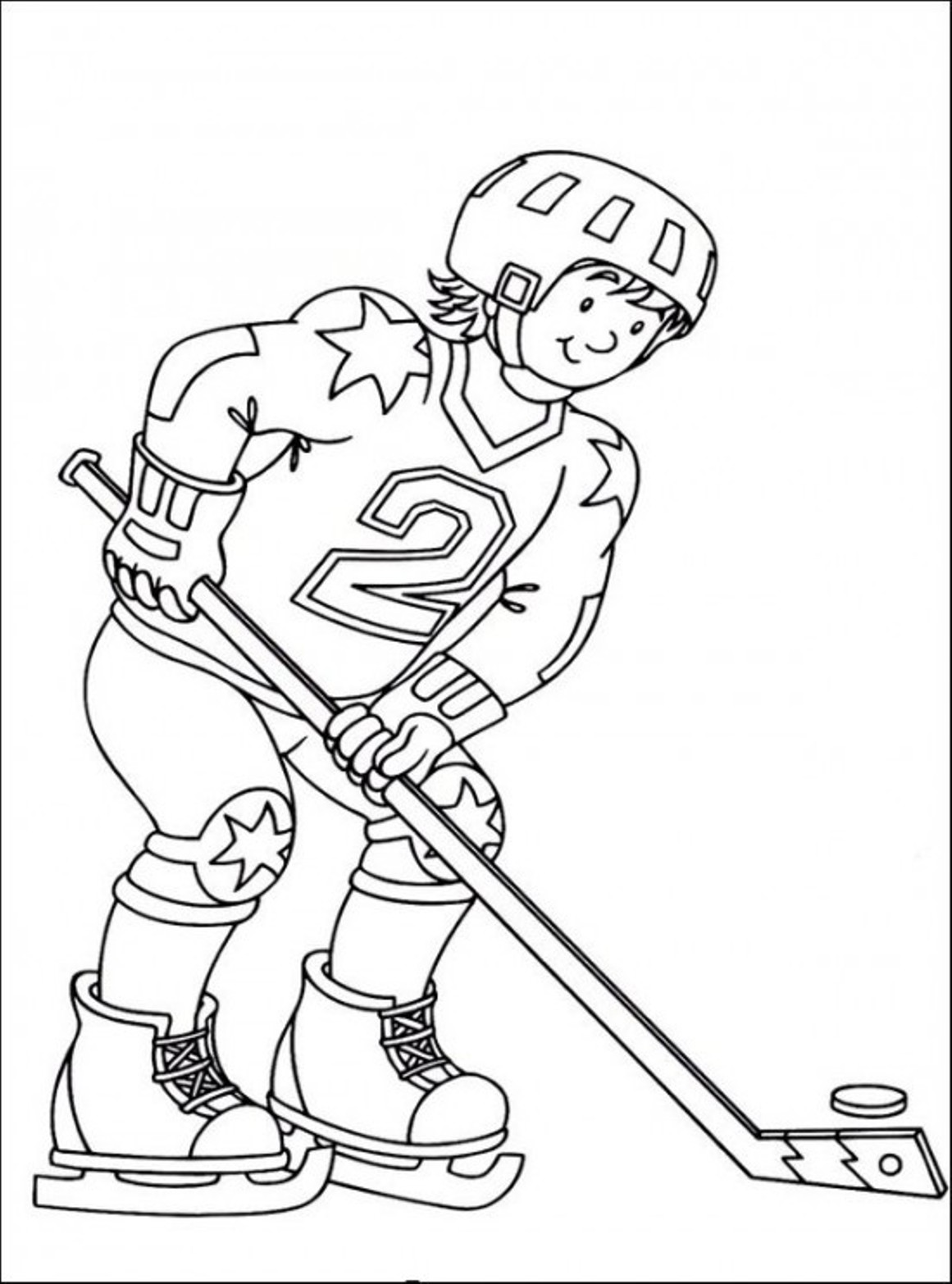 Hockey Printable Coloring Pages