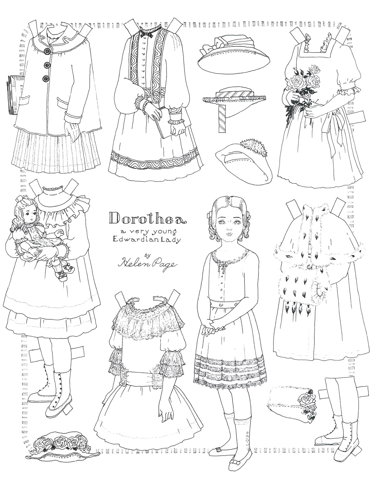 Printable Paper Doll Coloring Pages Coloringme Com