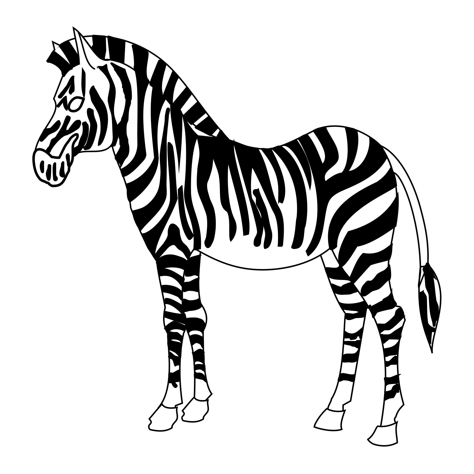 Zebra Print Coloring Sheet Coloring Pages
