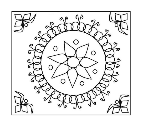 rangoli coloring pages # 67
