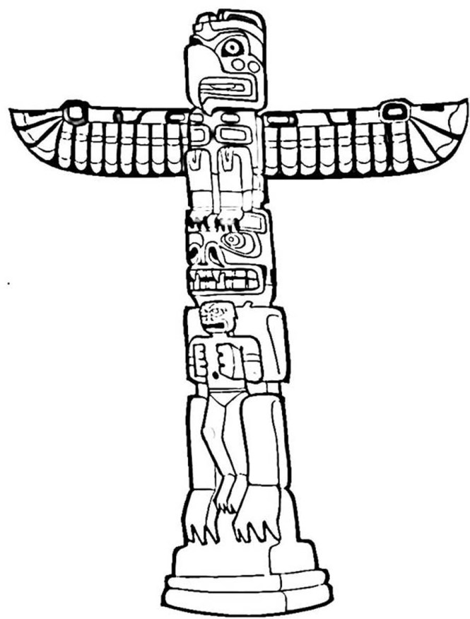 totem pole coloring pages | Coloring Page for kids