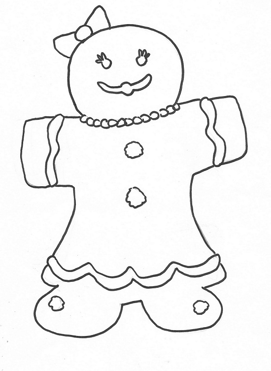 Printable Gingerbread Man Coloring Pages Coloringme Com