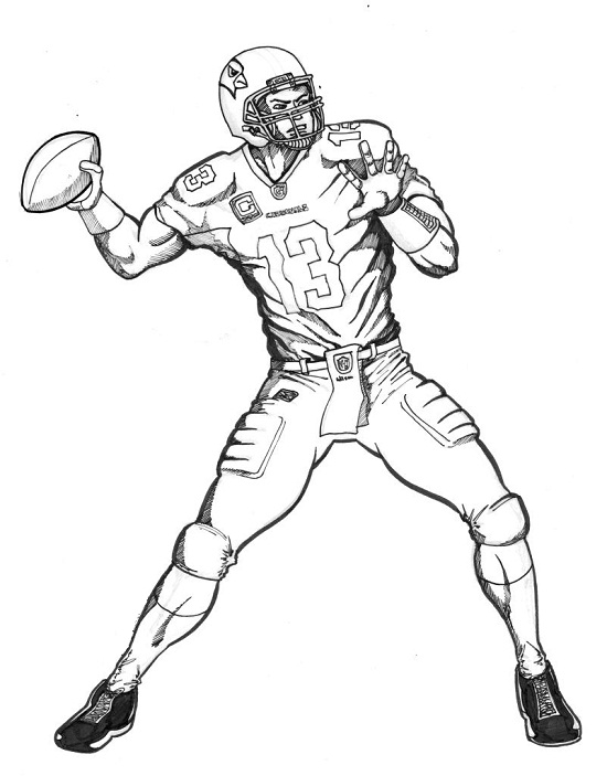 Printable Football Player Coloring Pages Coloringme Com