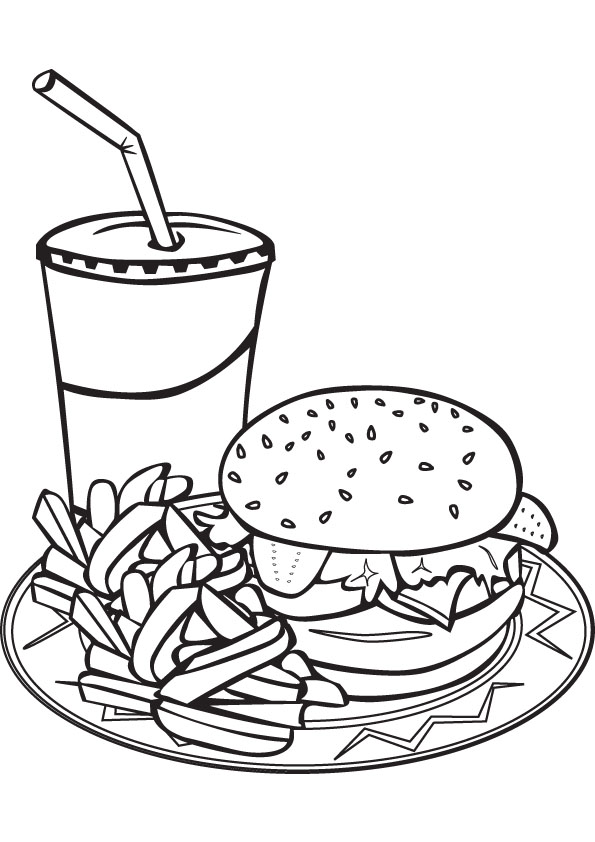 Printable Food Coloring Pages Coloringme Com