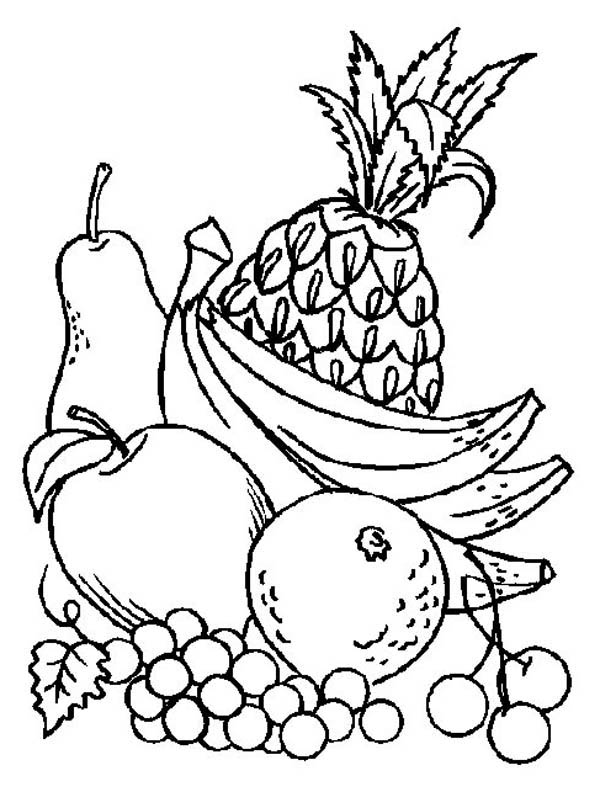 Printable Fruit Coloring Pages Coloringme Com