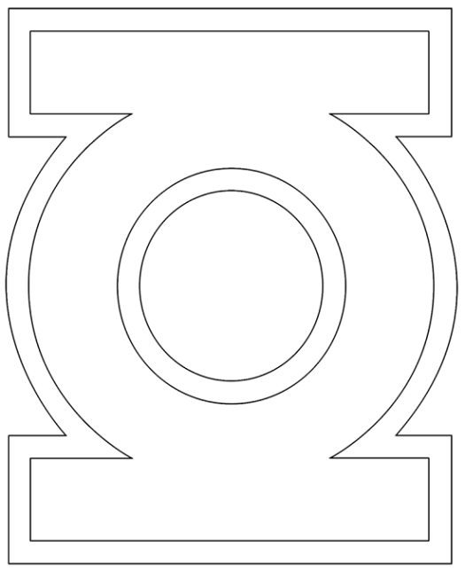 Green Lantern Logo Coloring Pages Coloring Page Cartoon