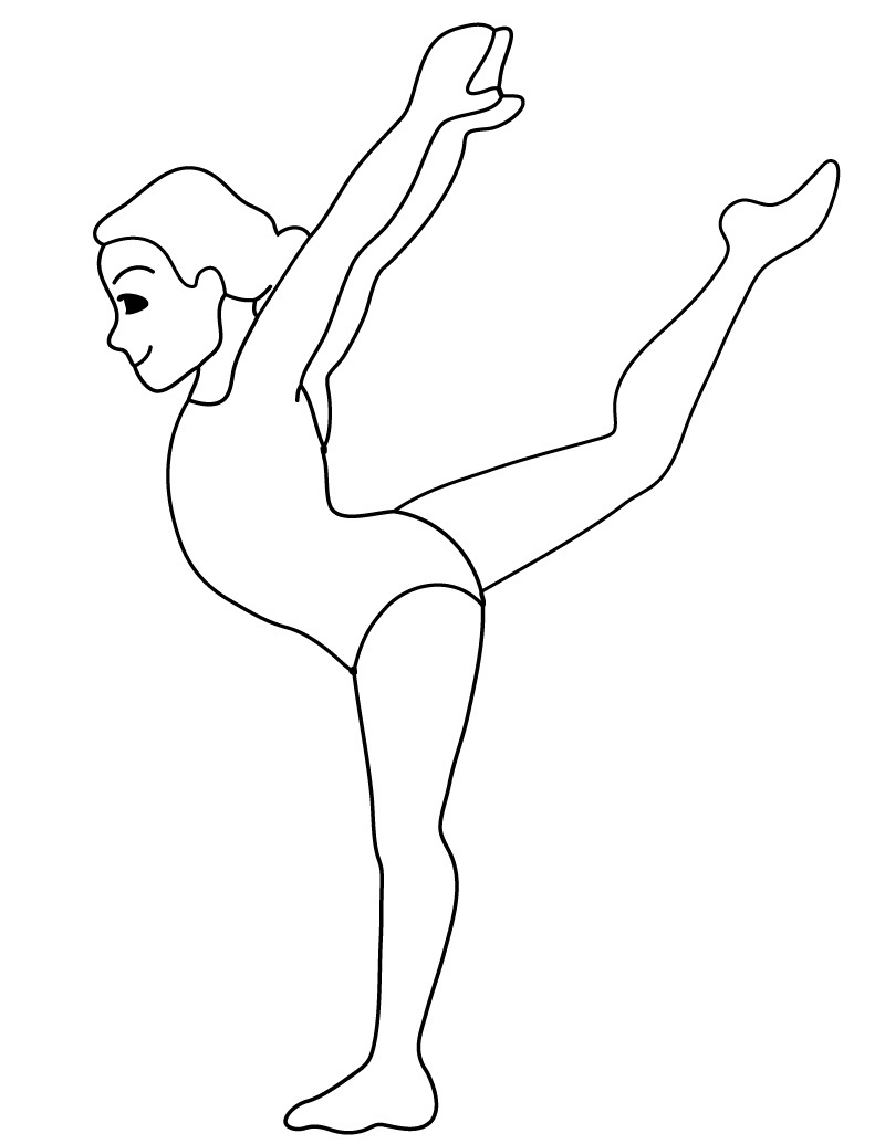 Printable Gymnastics Coloring Pages Coloring Me