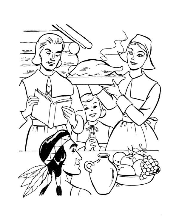 Pilgrims Coloring Pages Free Coloringme Com
